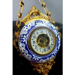 Kyпить Antique Paris Bretate Porcelain Chain & Key Wall Clock на еВаy.соm