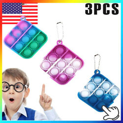 Kyпить 3pcs Mini Figet Simple Dimple Toy Keychain Ring Anti-stress Board Autism Toys на еВаy.соm