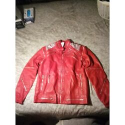 Michael Jackson 'Beat it' Jacket Vintage Replica (real Leather Silver mesh)