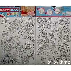 Fairies Pixies  YOU COLOR  Peel & Stick  REMOVABLE Home Décor  WALL STICKERS NEW