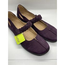 Hotter Comfort Concept Suede Purple Mary Jane Shake Shoes Size 9.5