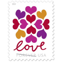 Kyпить LOVE HEARTS BLOSSOM USPS FOREVER STAMPS 5 Panes of 20 (100 stamps) USA #565000 на еВаy.соm