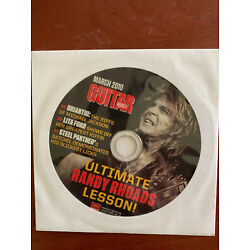 Kyпить Guitar World March 2010 CD Only Ultimate Randy Rhoads Lesson на еВаy.соm