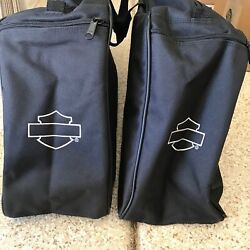Kyпить Harley-Davidson Pair of Luggage Canvas Pannier Bags for Road King на еВаy.соm
