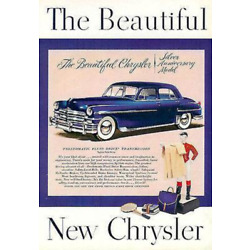 Kyпить Chrysler Silver Anniversary Model Chrome Blue White Wall Classic 1940s Car Ad на еВаy.соm
