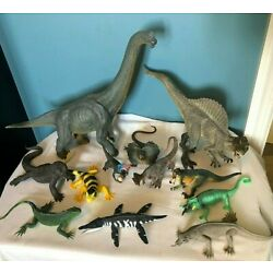 Kyпить LOT OF 12 COLLECTIBLE DINOSAUR FIGURINES FROM CLYDE PEELING'S REPTILELAND $400 + на еВаy.соm