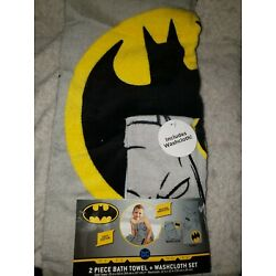 Kyпить 2 Piece Batman Towel With Washcloth New  на еВаy.соm