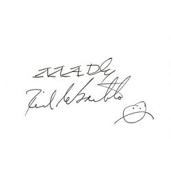 Dick DeBartolo signed autographed index card! AMCo! 11367