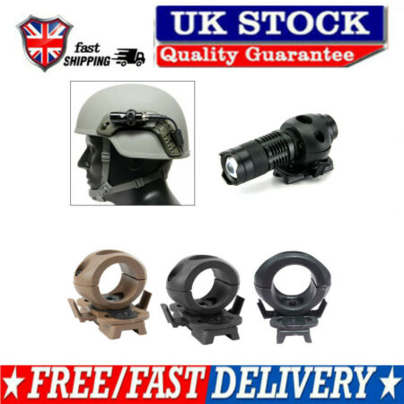img-OUTDOOR TACTICAL QUICK RELEASE FLASHLIGHT CLAMP HOLDER MOUNT FOR FAST HELMET TOO