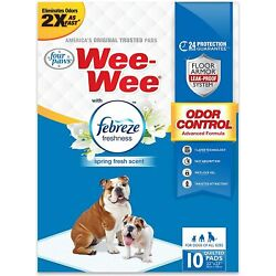 Wee-Wee Puppy Training Pee Pads 22'' x 23'' Standard Size Pads with Febreze