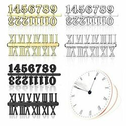 Clock Numbers Kit, Arabic Number and Roman Number for DIY Design Replacement