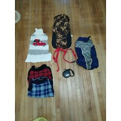 Dog leash, harness and Coats For a LG Dog....Please read description for deatils