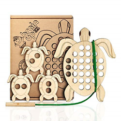 Kyпить BrainUpToys Lacing Toy for Toddlers - Wooden Turtle with Lace � Baby Child Car � на еВаy.соm
