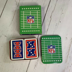 Kyпить Vintage Giftco NFL AFC/NFC Collectors Tin Playing Cards SEALED Plastic 2 Decks на еВаy.соm