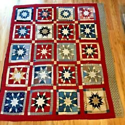 Kyпить Vintage Patriotic-Themed Red, White, and Blue Cutter Quilt 64