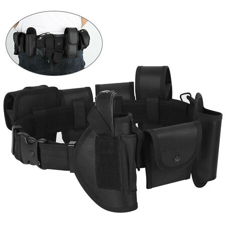 img-Security Duty Belt Gun Band Holster Black Training Polices Guard Utility Kit