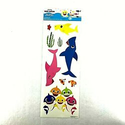 Pinkfong Baby Shark 9 Wall Decals Removable Stickers Crf/103-104 Blue, Pink,