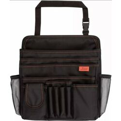 Lusso Gear Car Seat Organizer for Front or Backseat with Red Stitching Great One
