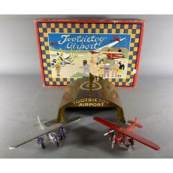 Antique Tootsie Toy Airport, ca 1930, complete in box
