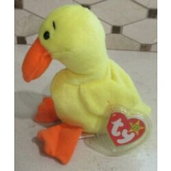 Ty Beanie Baby Quackers the Duck style  DOB 4-19-94 MWMT Free Shipping