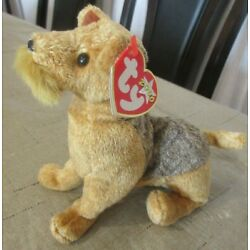 TY Beanie Baby Whiskers the Airedale  DOB August 6, 2000 MWMT Free Shipping