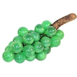 MCM Lucite Grape Cluster on Driftwood Green Emerald 12
