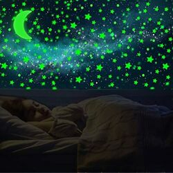 Glow in The Dark Wall Stickers, 665 Bright and Realistic Stars and Moon for