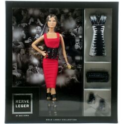 Mattel Barbie Gold Label Collection HERVE LEGER DRESS DOLL by Max Azria 2013 NEW