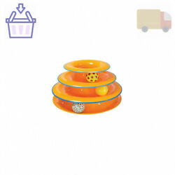Petstages Cat Tracks Cat Toy - Fun Levels of Interactive Play - Circle Track