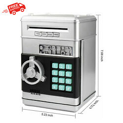 Piggy Bank Electronic ATM Password Cash Coin Can Paper Money Saving Box Toy Gift