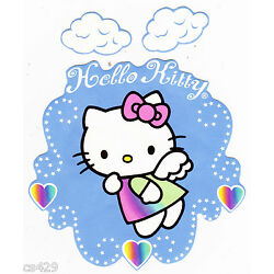 angel Hello kitty wall decal clouds prepasted border cut out 5.5 inch