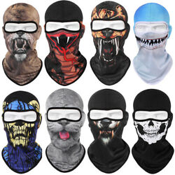 Halloween Skull Ghost Printed Full Face Mask Balaclava Ski Motorcycle Cover Hat