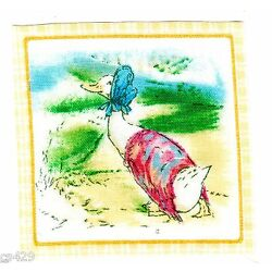 duck Beatrix potter wall decal bonnet square wall safe fabric 2.5 inch