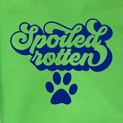 Spoiled Rotten tie on dog / pet bandana. You choose color.