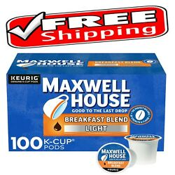 Maxwell House Breakfast Blend Coffee - K-CUP Pods - 100 Pieces FREE SHIPPING