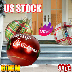 Christmas Gift Inflatable Ball Outdoor Xmas Tree Decoration Ball Funny Toy NM