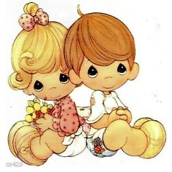 precious moments boy girl sticker wall safe border cut out 5 to 8 inch