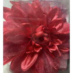 Red Flower Clip Curtain Hardware Accessory