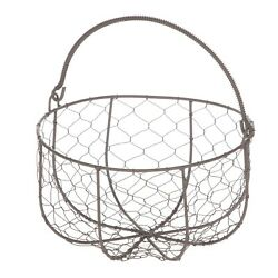 Mainstays Brown Chicken Wire Basket with Moveable Handle