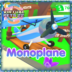 MONOPLANE   ADOPT ME ????NEW  VEHICLE( CHOOSE YOUR COLOR)FAST DELIVERY