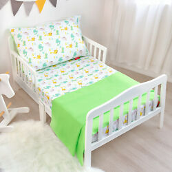 Toddler Sheet Sets 3-Piece Crib Sheet Set for Toddler Bed Breathable Silky Soft