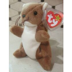 Ty Beanie Baby Nuts the Squirrel DOB January 21, 1996 MWMT Free Shipping