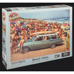 Impact Jigsaw Puzzles Deluxe 1000 Pce Puzzle Holden Beach Vibes 1963 EH Holden