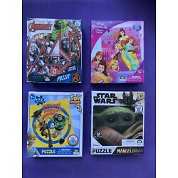 Avengers Toy Story Princess Star Wars 72 Piece Puzzle X4