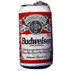bud can beer Budweiser wall sticker ale peel & stick wall border cut out 3 inch