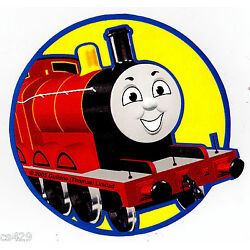 train Thomas wall decal red yellow circle prepasted border cut out 4.5 inch