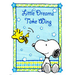 Baby Snoopy wall safe sticker sweet dreams border cut out 6 to 10.5 inch