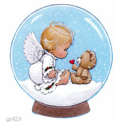 Precious moments angel wall safe sticker christmas snow bear cut out 5 inch