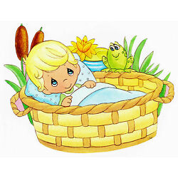 Precious moments boy wall safe sticker frog lily border cut out 6 to 10.5 inch