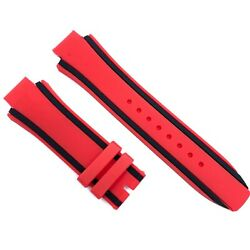 Compatible For Timberland TBL14323JSUB04 26mm Red Rubber Watch Strap TMB101
